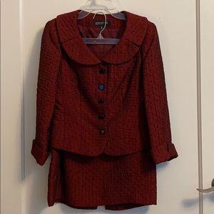 Jones New York Skirt Suit Dark Red 2P